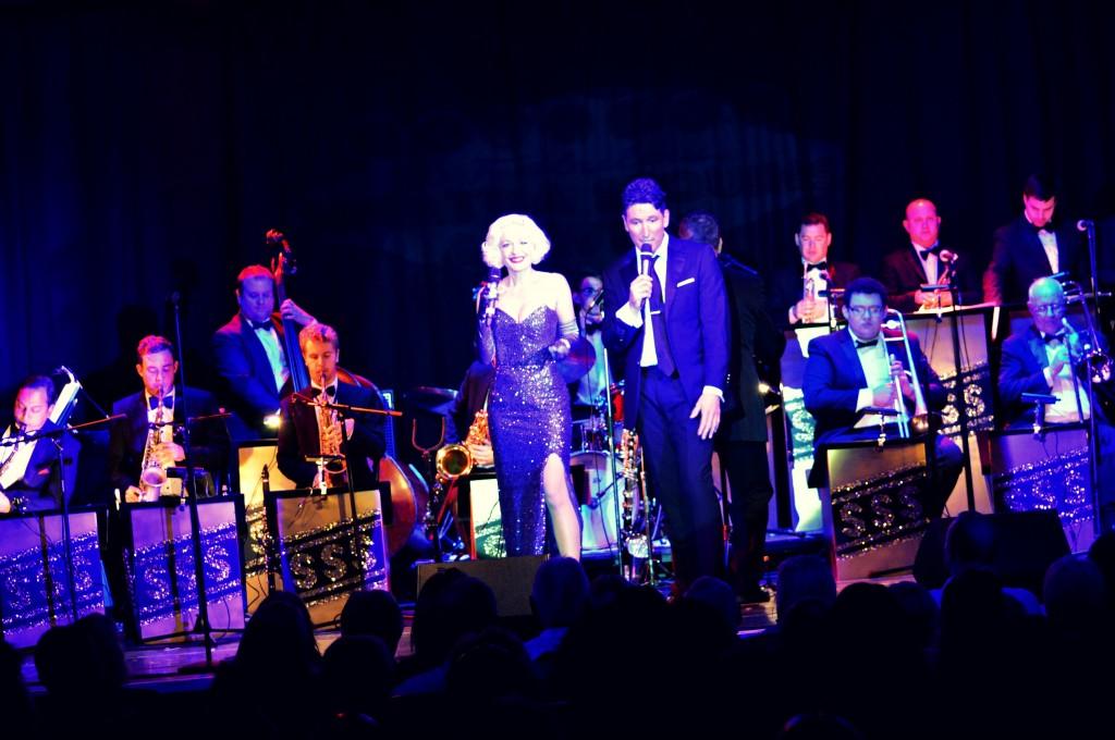 Kitty La Roar & Kevin Fitzsimmons in show 'Sinatra Sequins & Swing'
